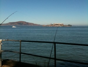 Front center view (Angel Island and Alcatraz)